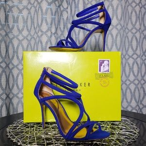 Ted Baker London Ninof strappy blue heels LIKE NEW
